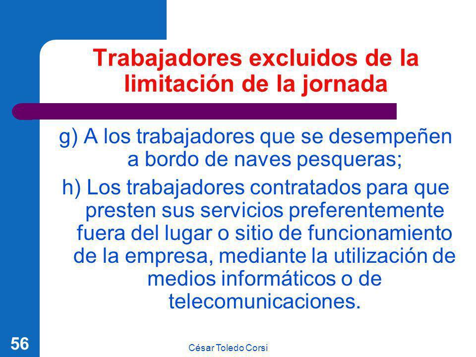 Trabajadores excluidos de la limitación de la jornada