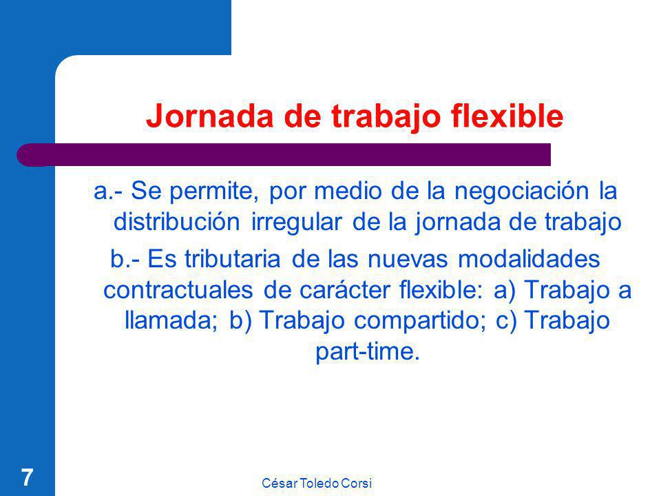 Jornada de trabajo flexible