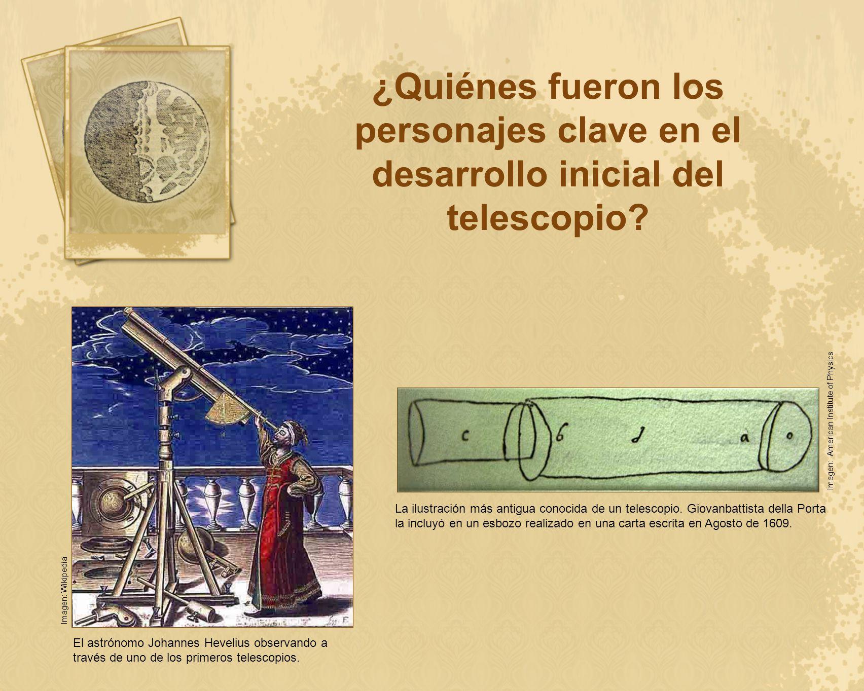 ¿Quiénes fueron los personajes clave en el desarrollo inicial del telescopio