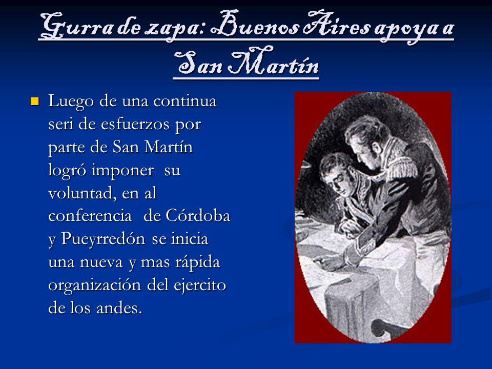 Gurra de zapa: Buenos Aires apoya a San Martín