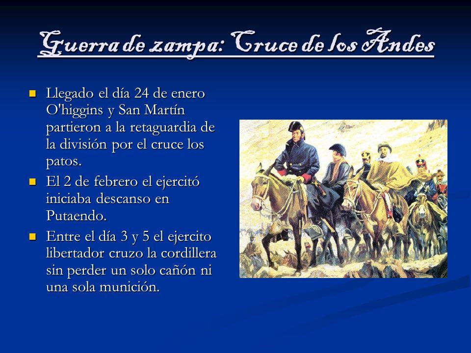 Guerra de zampa: Cruce de los Andes