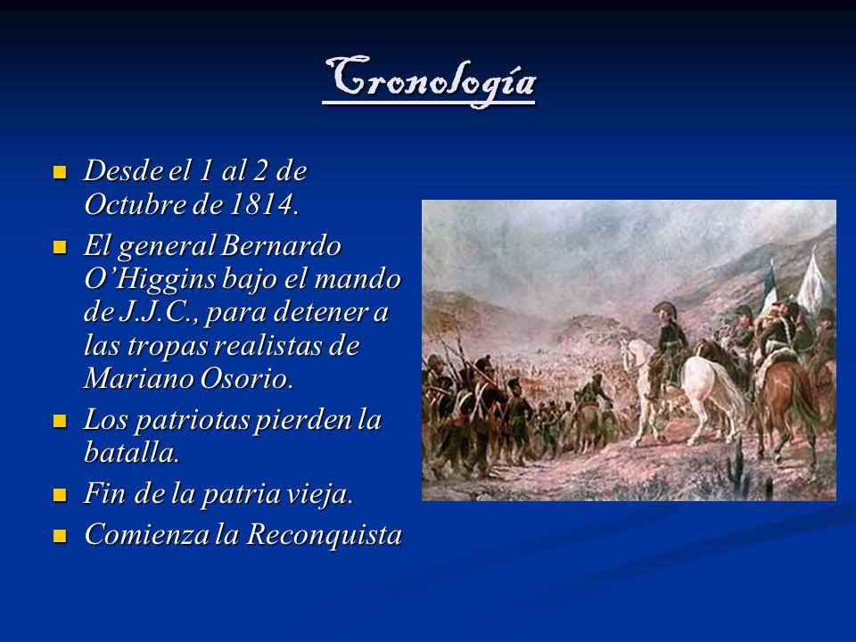 Cronología Desde el 1 al 2 de Octubre de 1814.