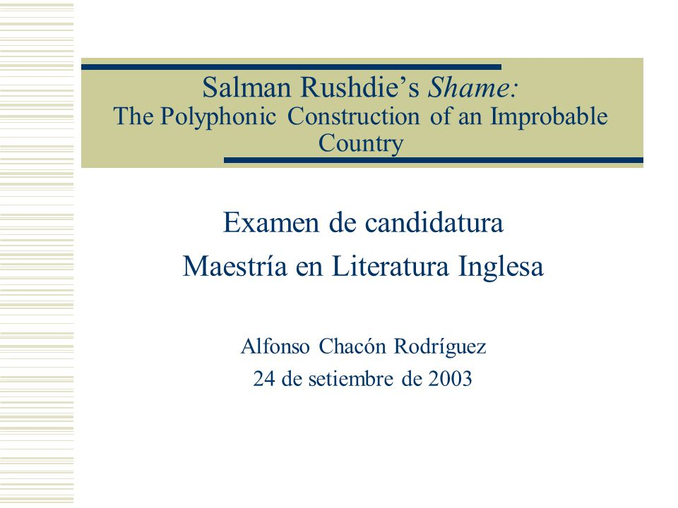 Maestría en Literatura Inglesa