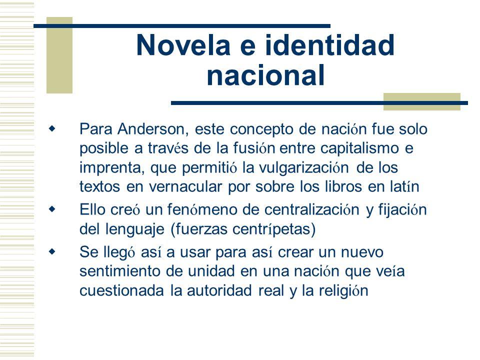 Novela e identidad nacional