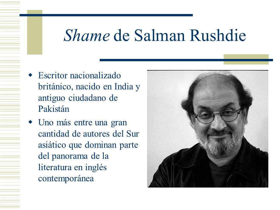 Shame de Salman Rushdie