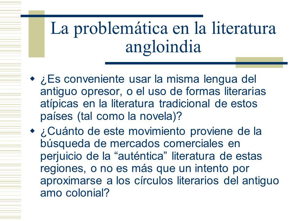 La problemática en la literatura angloindia