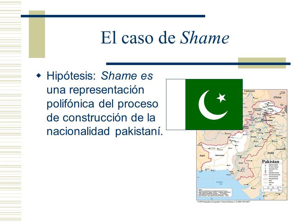 El caso de Shame Hipótesis: Shame es una representación polifónica del proceso de construcción de la nacionalidad pakistaní.