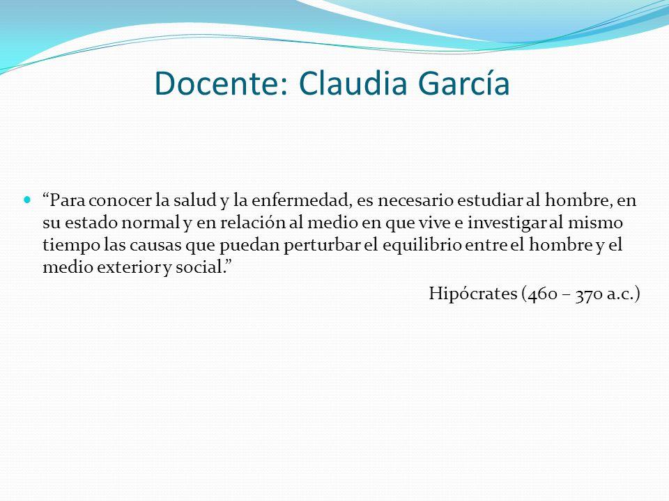 Docente: Claudia García