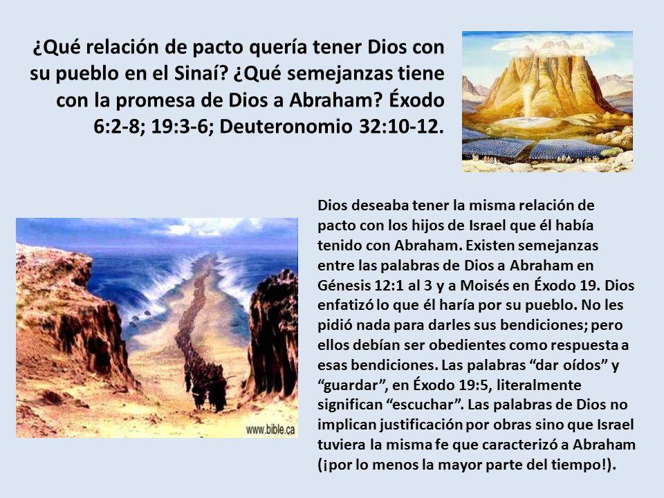 ¿Qué relación de pacto quería tener Dios con su pueblo en el Sinaí