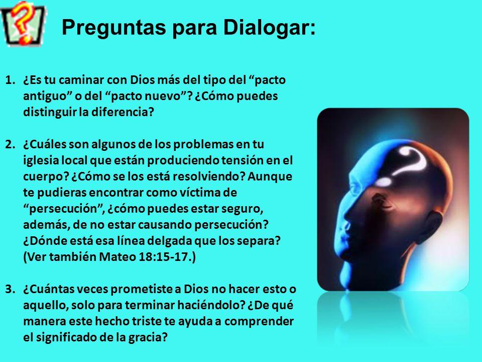 Preguntas para Dialogar: