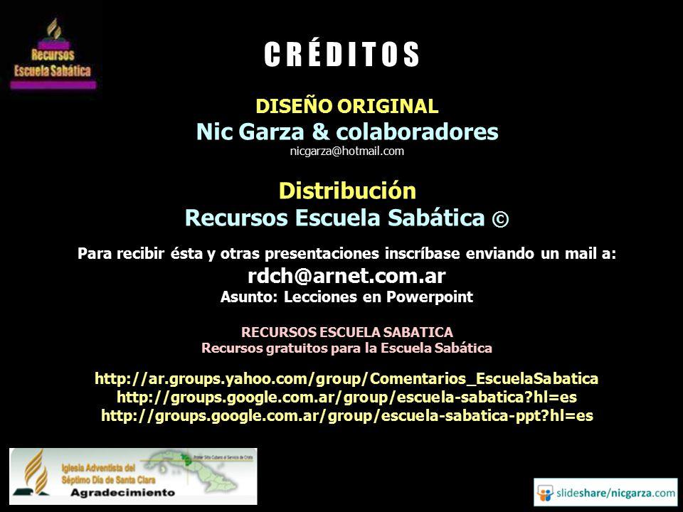 C R É D I T O S Nic Garza & colaboradores Distribución