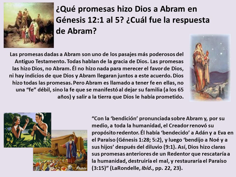 ¿Qué promesas hizo Dios a Abram en Génesis 12:1 al 5