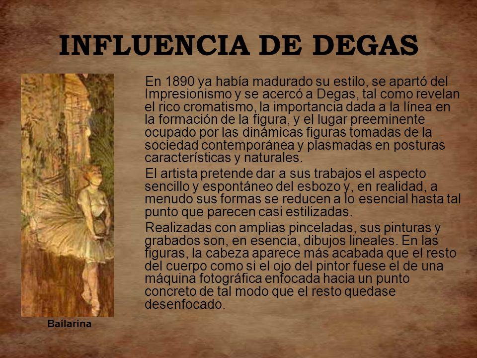 INFLUENCIA DE DEGAS