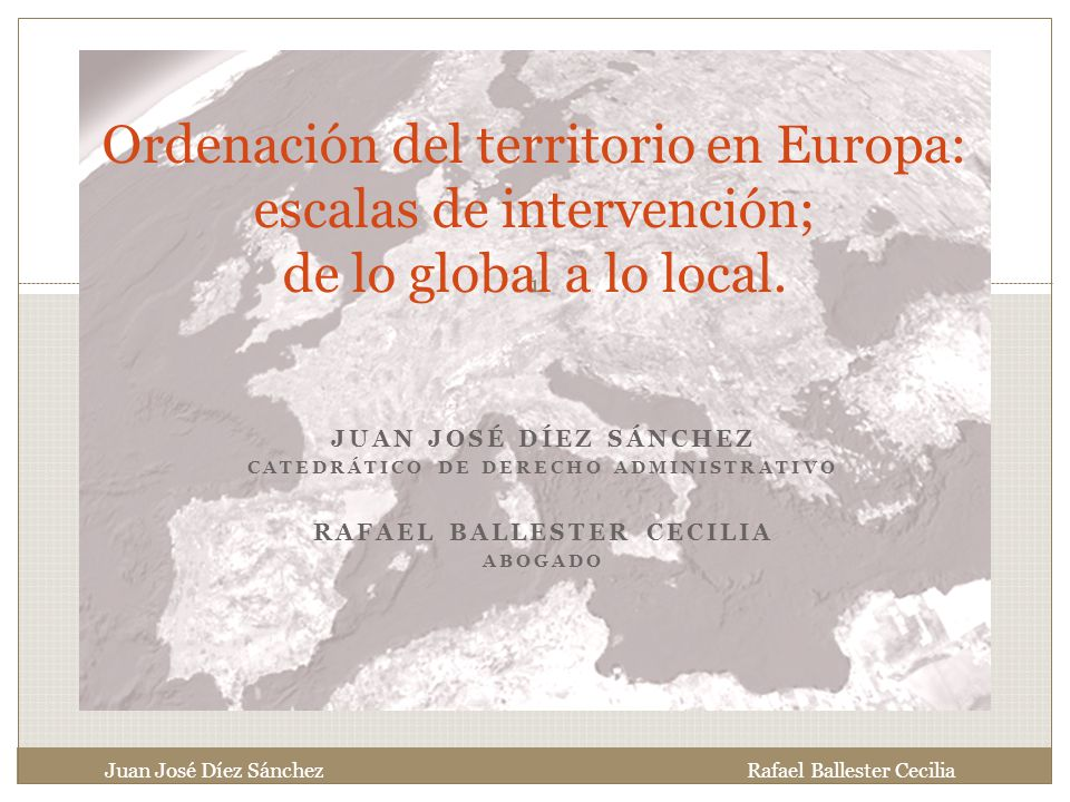 Catedrático de Derecho Administrativo Rafael Ballester Cecilia