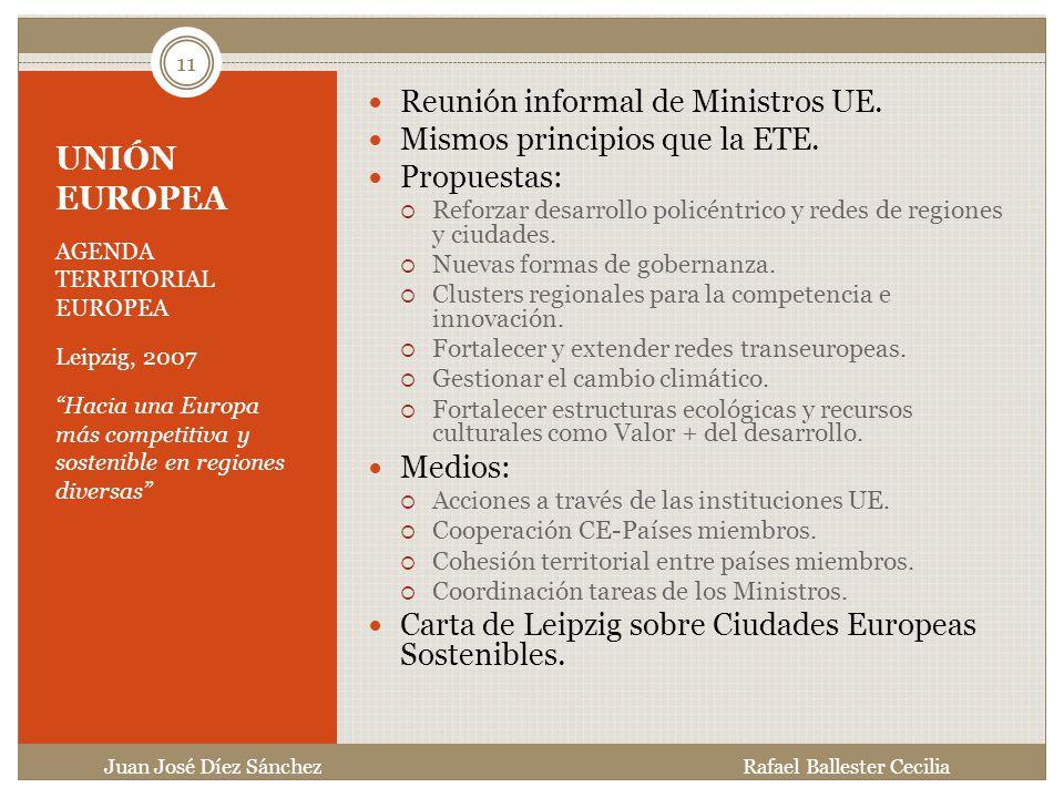 UNIÓN EUROPEA Reunión informal de Ministros UE.