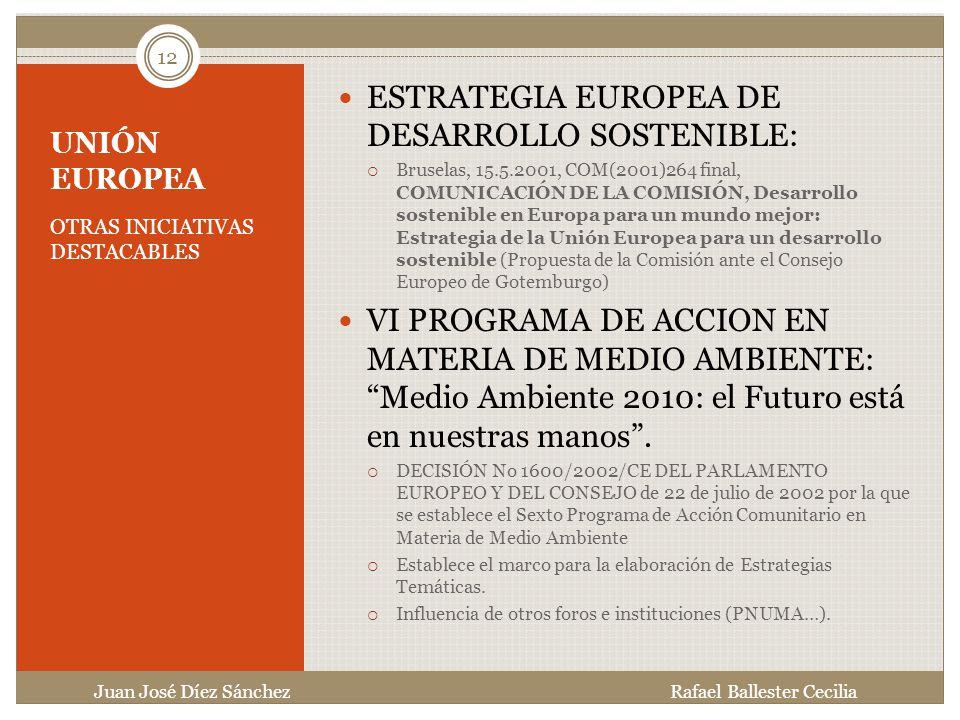 ESTRATEGIA EUROPEA DE DESARROLLO SOSTENIBLE: