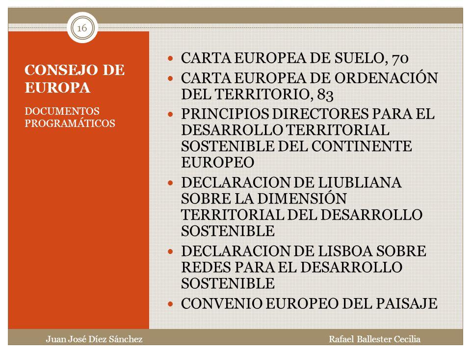 CARTA EUROPEA DE ORDENACIÓN DEL TERRITORIO, 83