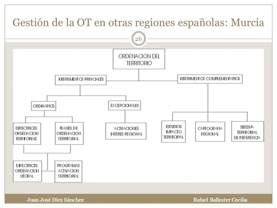 Gestión de la OT en otras regiones españolas: Murcia