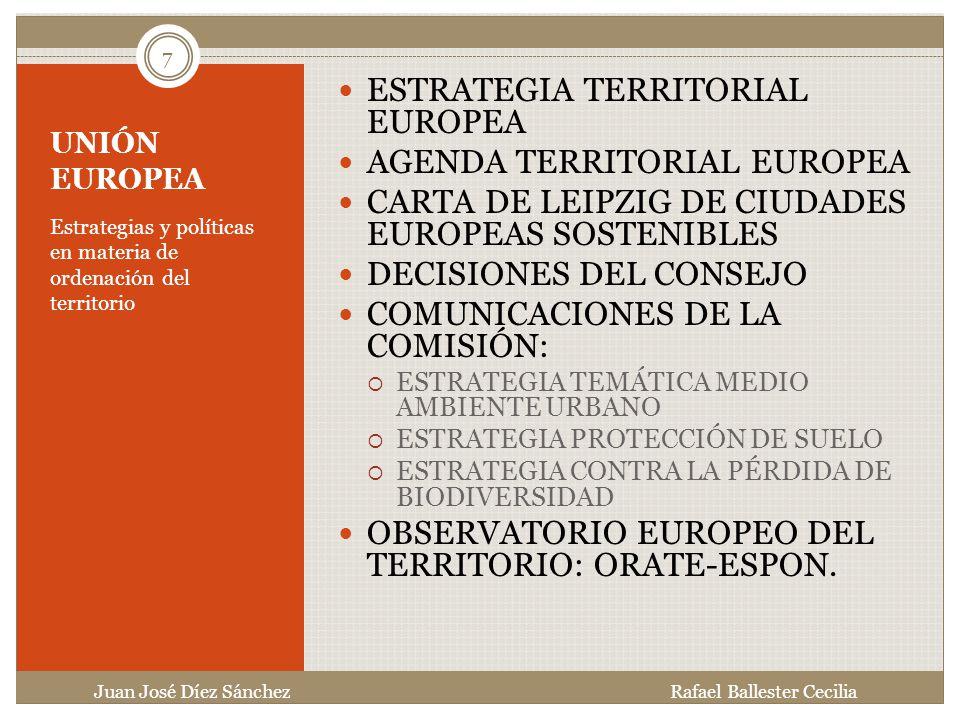 ESTRATEGIA TERRITORIAL EUROPEA AGENDA TERRITORIAL EUROPEA