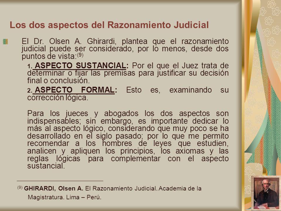 Los dos aspectos del Razonamiento Judicial