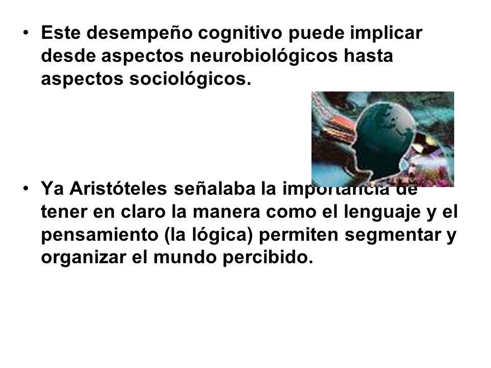 Este desempeño cognitivo puede implicar desde aspectos neurobiológicos hasta aspectos sociológicos.