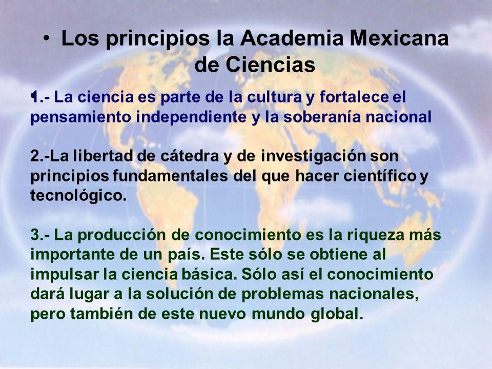 Los principios la Academia Mexicana de Ciencias
