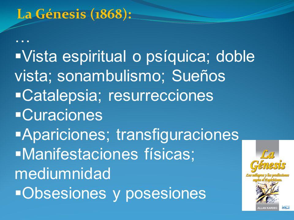 Vista espiritual o psíquica; doble vista; sonambulismo; Sueños