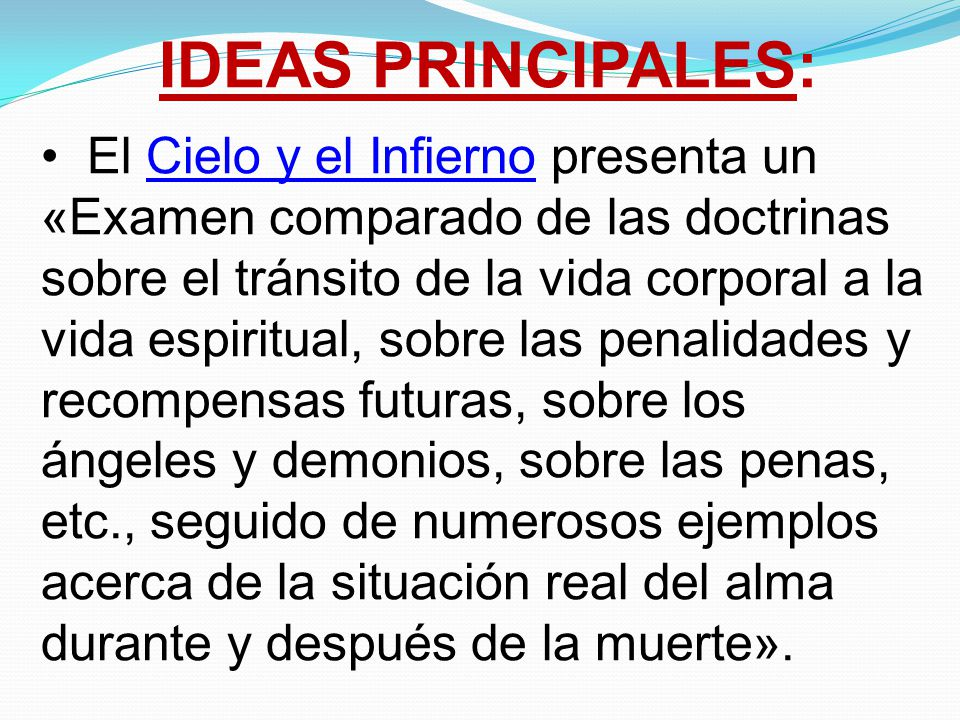 IDEAS PRINCIPALES: