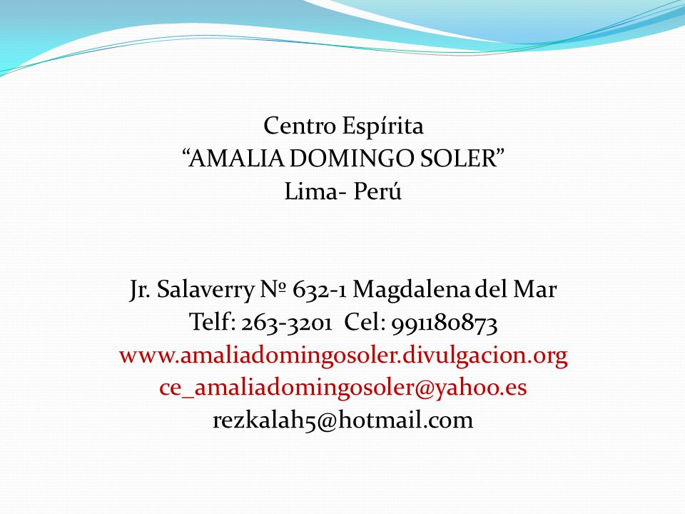 AMALIA DOMINGO SOLER Lima- Perú