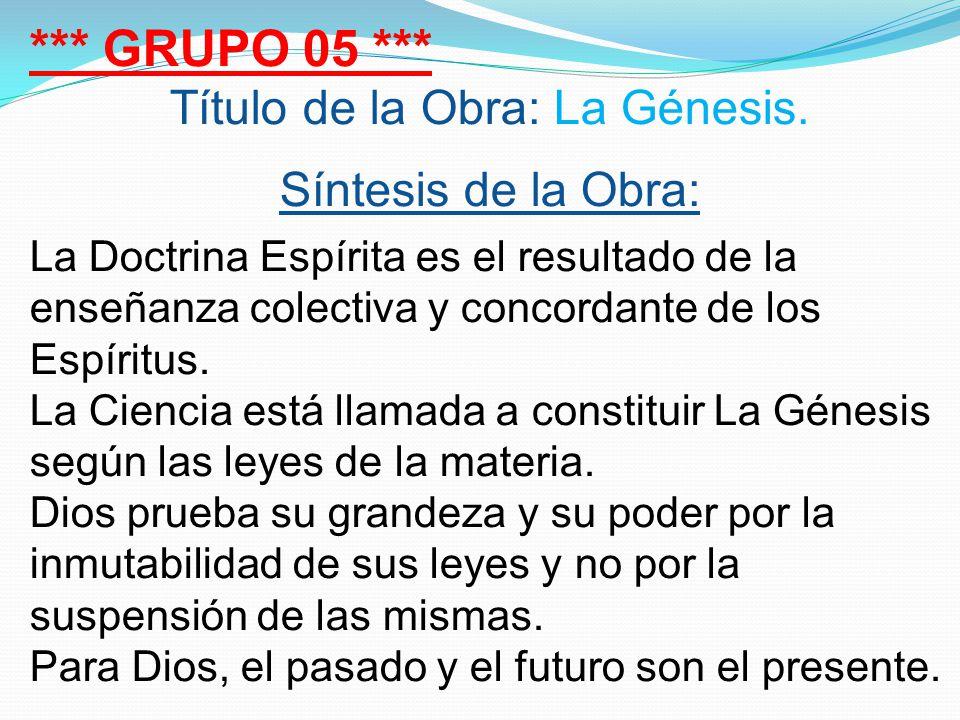 Título de la Obra: La Génesis.