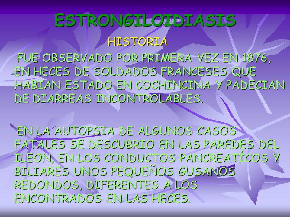 ESTRONGILOIDIASIS HISTORIA