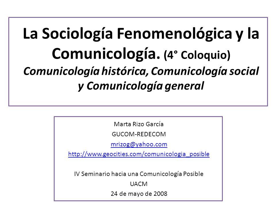 IV Seminario hacia una Comunicología Posible