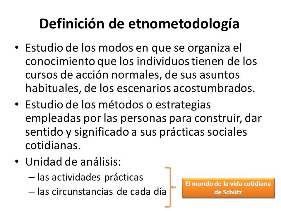 Definición de etnometodología