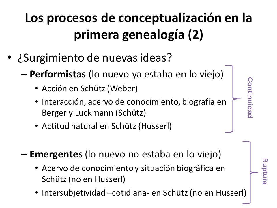 Los procesos de conceptualización en la primera genealogía (2)