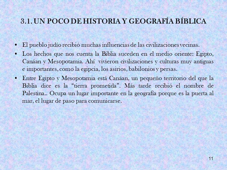 3.1. UN POCO DE HISTORIA Y GEOGRAFÍA BÍBLICA