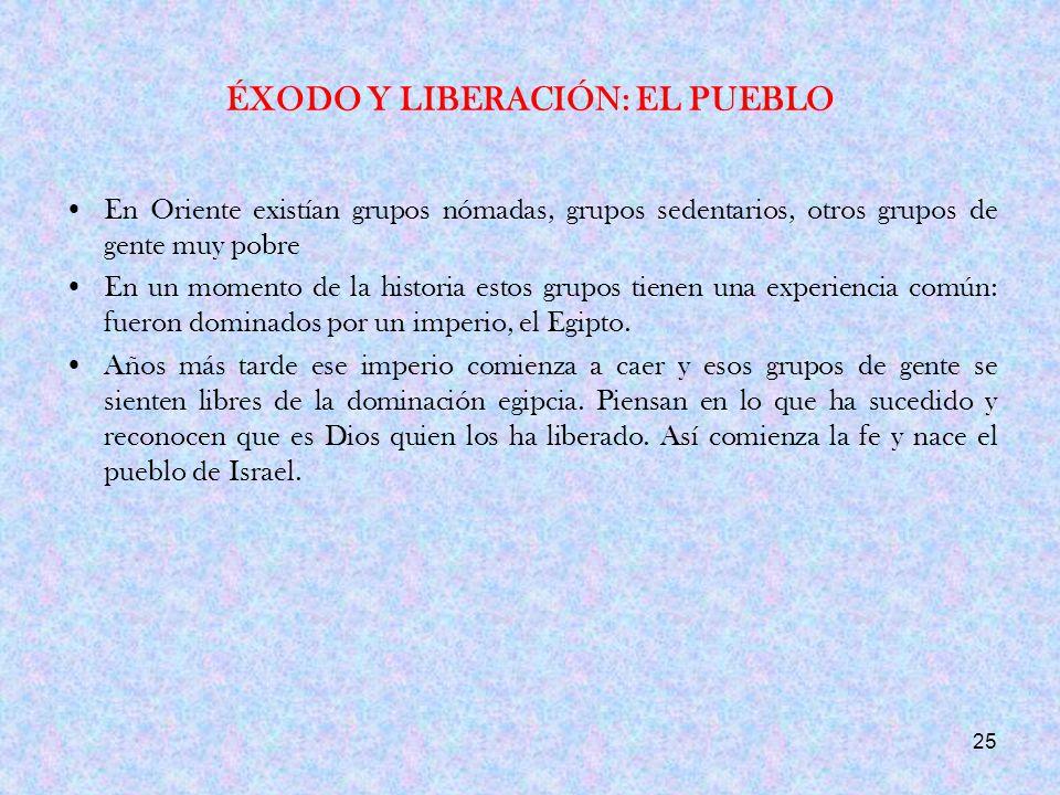 ÉXODO Y LIBERACIÓN: EL PUEBLO
