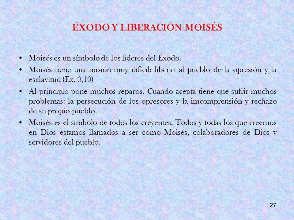 ÉXODO Y LIBERACIÓN: MOISÉS