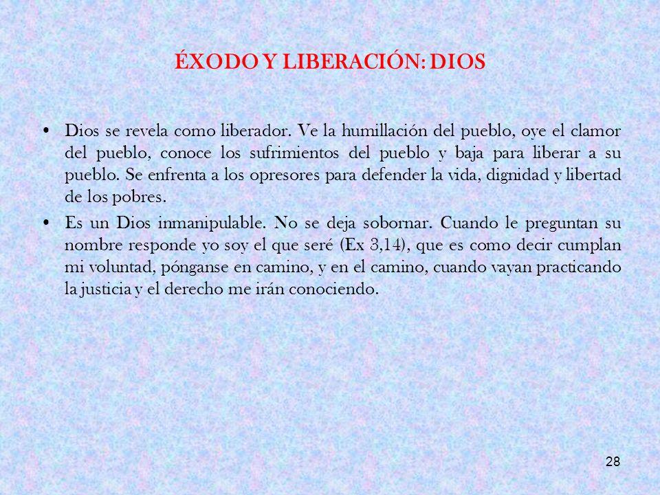 ÉXODO Y LIBERACIÓN: DIOS