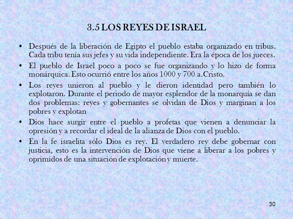 3.5 LOS REYES DE ISRAEL