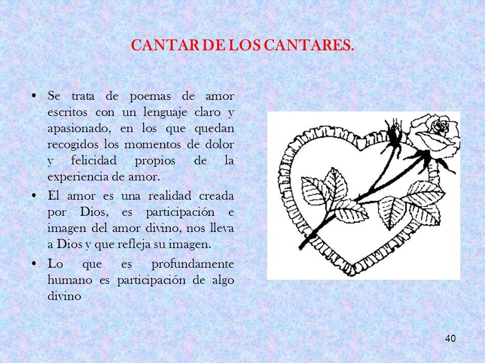 CANTAR DE LOS CANTARES.