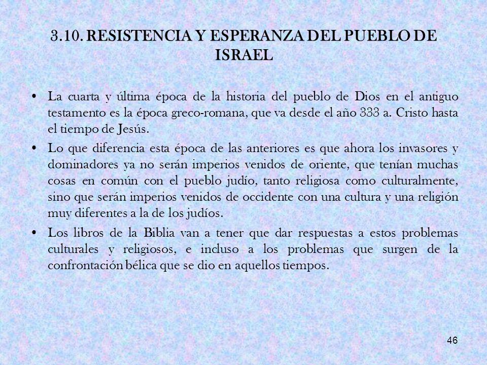 3.10. RESISTENCIA Y ESPERANZA DEL PUEBLO DE ISRAEL