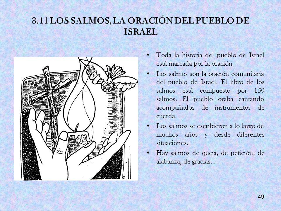 3.11 LOS SALMOS, LA ORACIÓN DEL PUEBLO DE ISRAEL