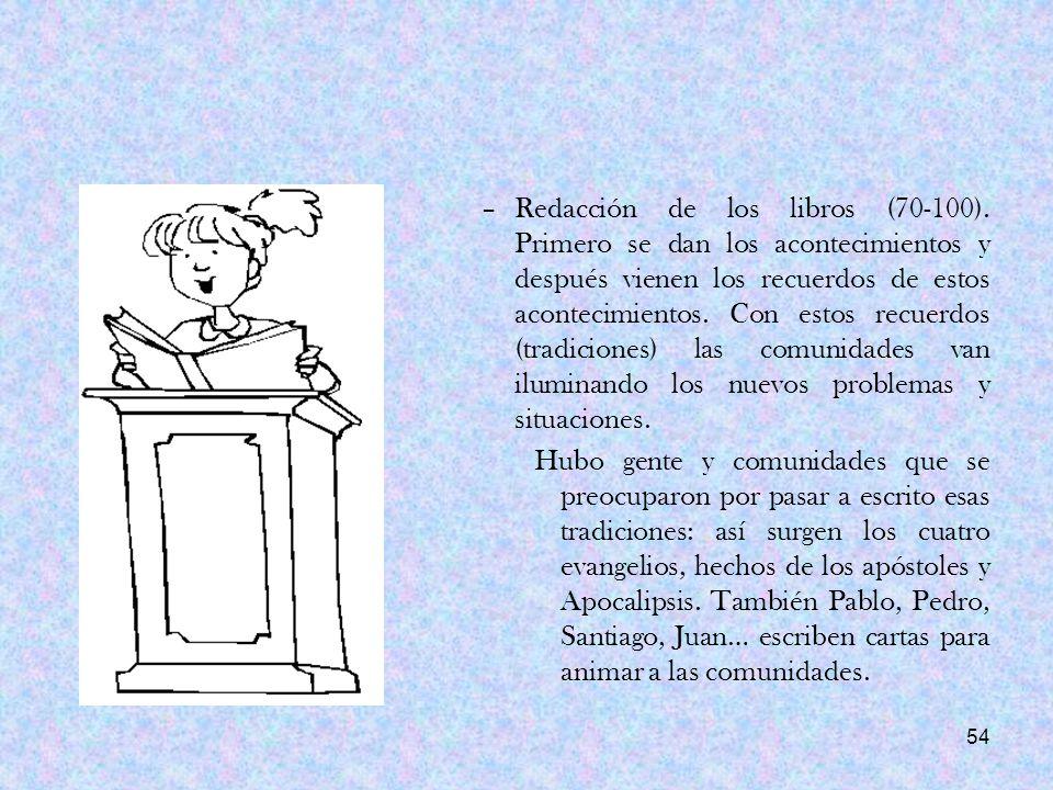 Redacción de los libros (70-100)