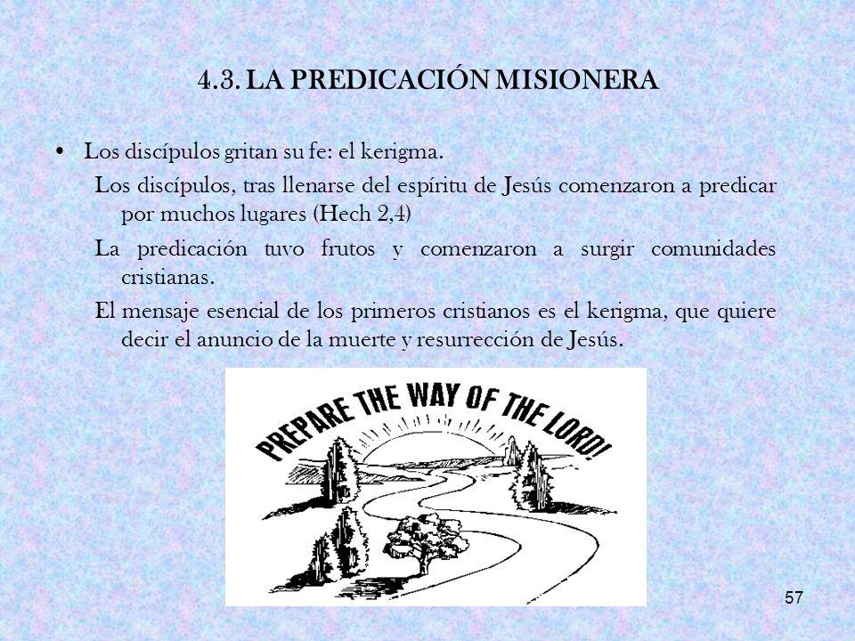 4.3. LA PREDICACIÓN MISIONERA