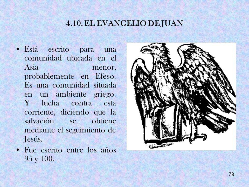 4.10. EL EVANGELIO DE JUAN