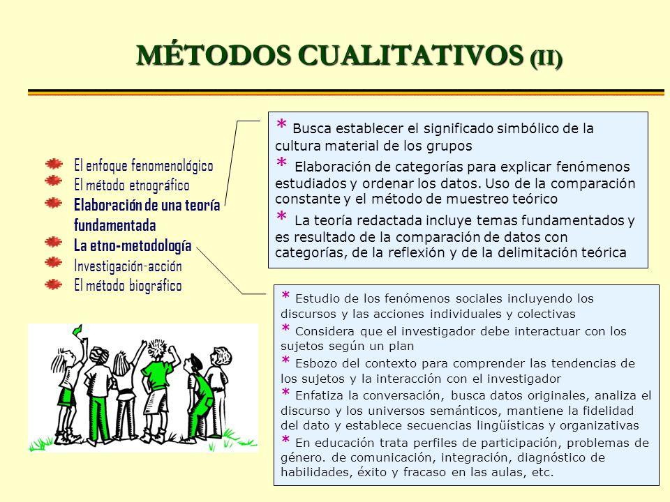 MÉTODOS CUALITATIVOS (II)