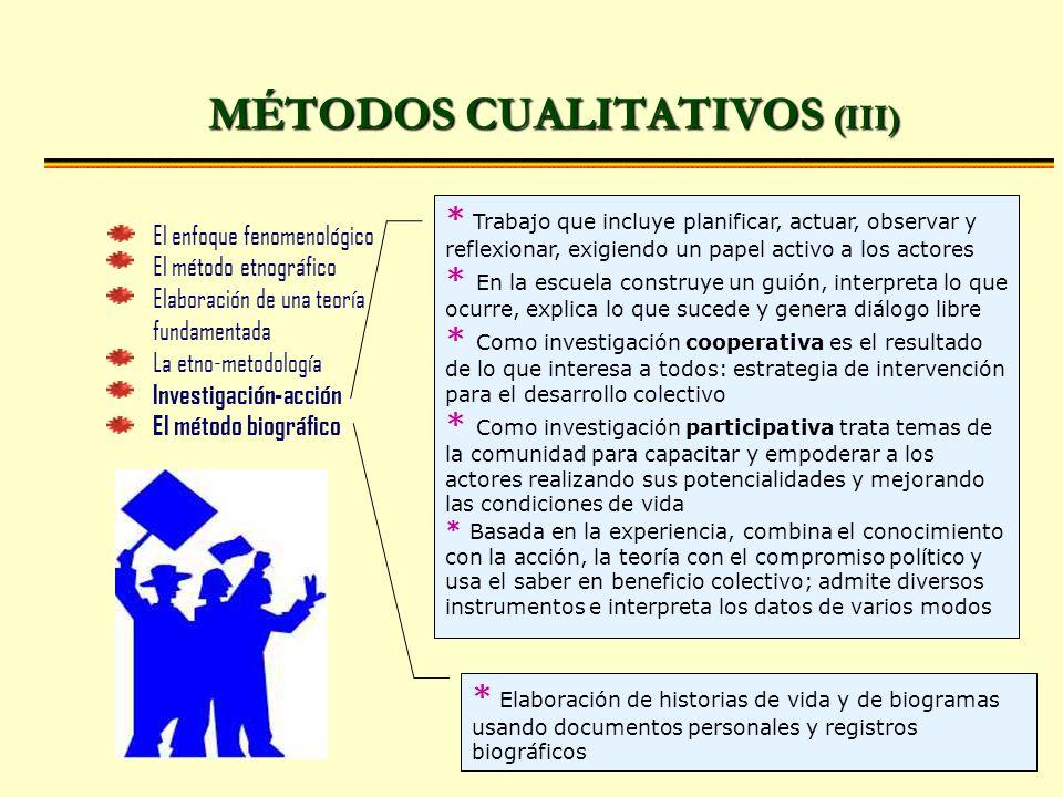 MÉTODOS CUALITATIVOS (III)