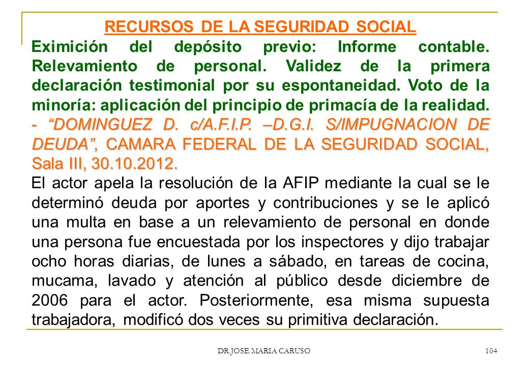 RECURSOS DE LA SEGURIDAD SOCIAL