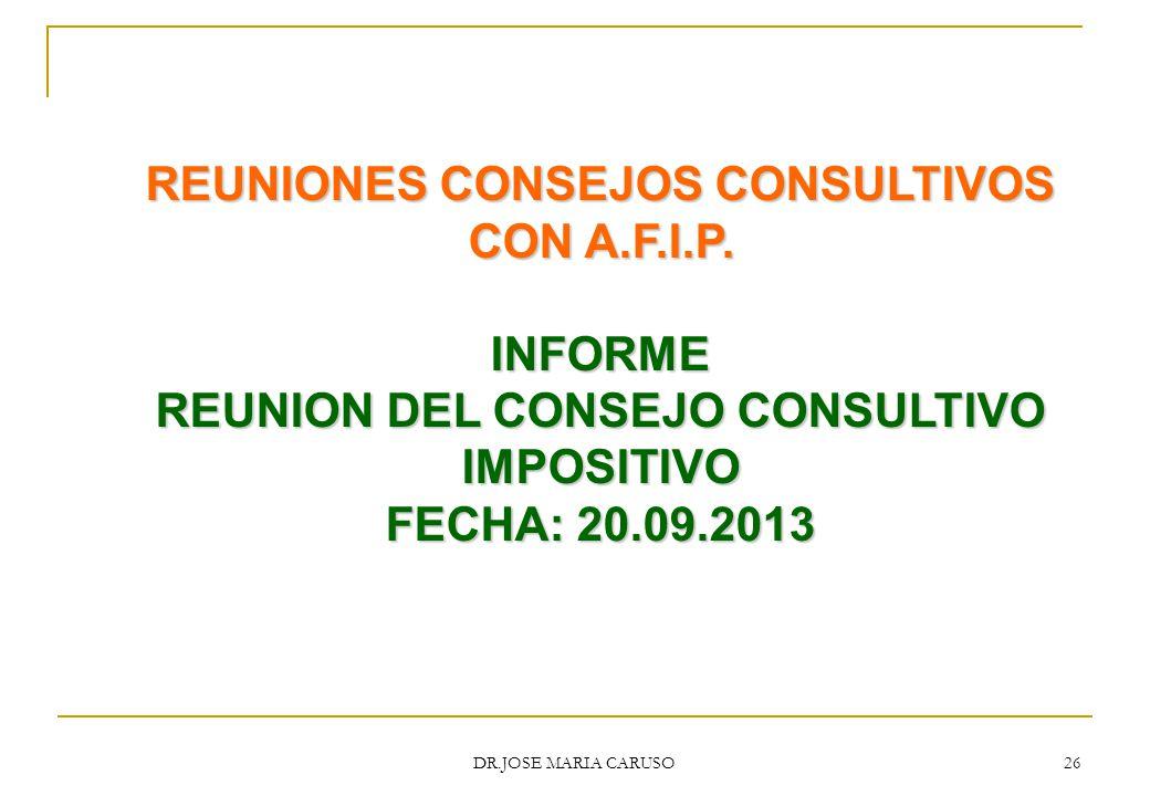 REUNIONES CONSEJOS CONSULTIVOS CON A.F.I.P.