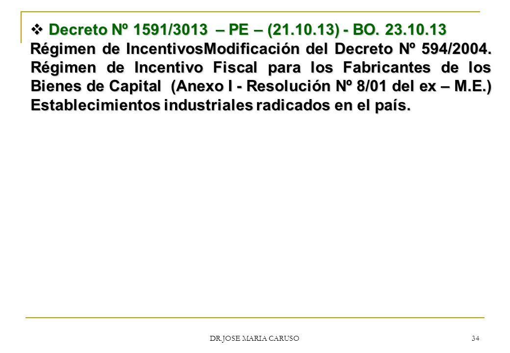 Decreto Nº 1591/3013 – PE – (21.10.13) - BO. 23.10.13